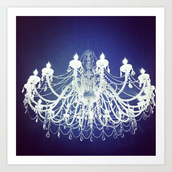 Chandelier Black And White Photography Sparkly Dreamy Light Art Print By Beachchix Society6