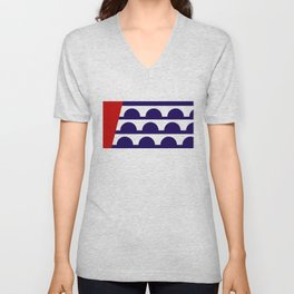 Des Moines city flag united states of america Iowa Unisex V-Neck