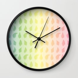 Feather pattern Multi color Wall Clock