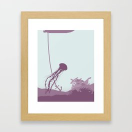 Jellyfish of the Reef Framed Art Print