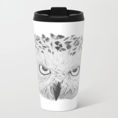 Snowy Owl Metal Travel Mug