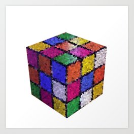 The color cube Art Print