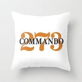 273 Commando (Engine Label) Throw Pillow
