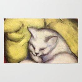 """Franz Marc """"Kater auf gelbem Kissen"""" Rug"""