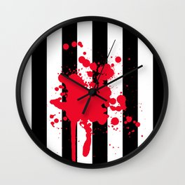 Black and White and Red All Over Wall Clock