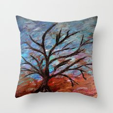 Abstract/palette knife  Throw Pillow