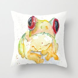 Springy Froggy Throw Pillow