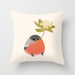 Eurasian bullfinch 2 Throw Pillow