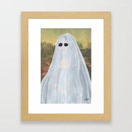 """""""Ghost Mona Lisa"""" Framed Art Print"""