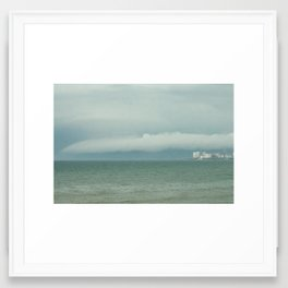 Storm in the sea. Framed Art Print