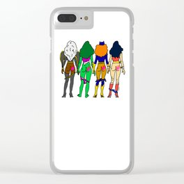 Superhero Butts Love 2 - Team Girls Clear iPhone Case