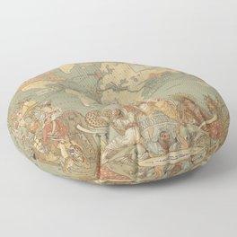 Ancient World Map 3 Floor Pillow