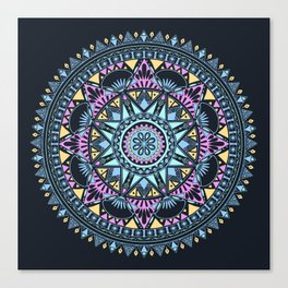 Blue Bohohemian Pattern Canvas Print