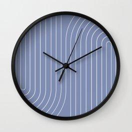 Minimal Line Curvature - Blue Wall Clock