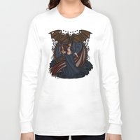 nouveau Long Sleeve T-shirts featuring Elizabeth Nouveau by Karen Hallion Illustrations