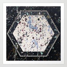 Attraction - hexagon graphic Art Print