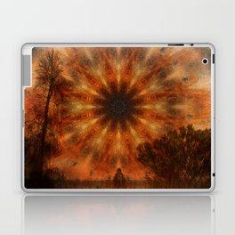 Surreal landscape in corrugated iron mandala Laptop & iPad Skin