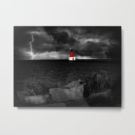 Lightning House Metal Print