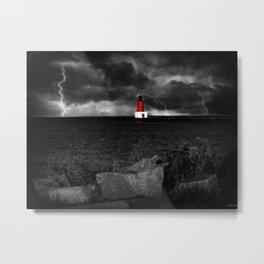 Lightning House Metal Print