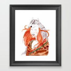 Wolf Girl Framed Art Print