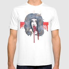 Go on let it Bleed  Mens Fitted Tee MEDIUM White