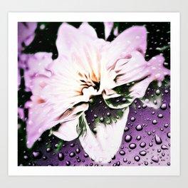 Lavender rain Art Print