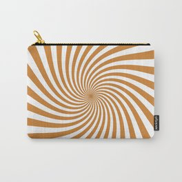 Swirl (Bronze/White) Carry-All Pouch