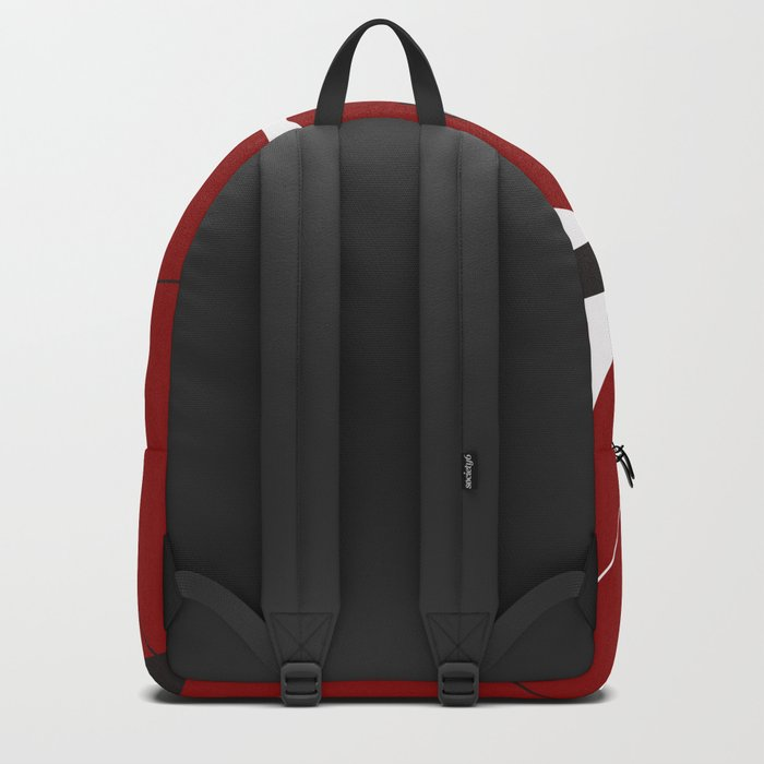 Geometric/Red-White-Black 2 Backpack