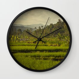 Balapusuh Village Rice Paddies Wall Clock