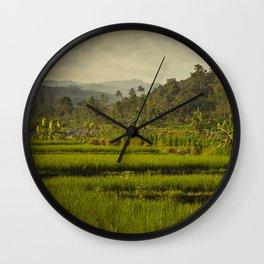 Balapusuh Village Rice Paddies Wall Clock