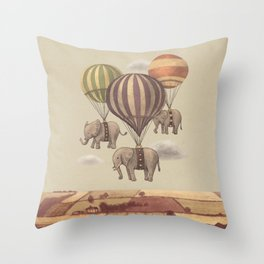 Flight of The Elephants Throw Pillow