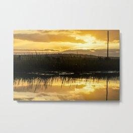 Mirror image sunset Metal Print