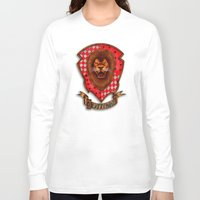 gryffindor Long Sleeve T-shirts featuring Gryffindor shield emblem by JanaProject