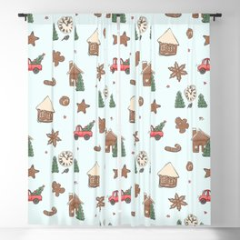 Christmas cookie Blackout Curtain
