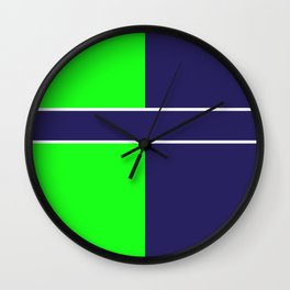 Team Colors...... 6 Lime green /navy Wall Clock