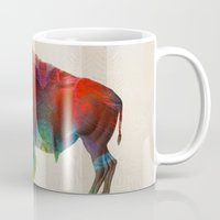 nfl Mugs featuring Buffalo Animal Print - Wild Bill - By Sharon Cummings by Sharon Cummings