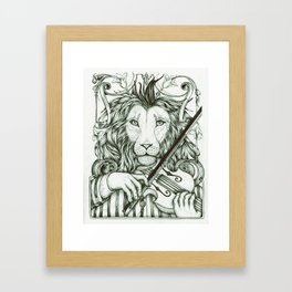 Lionviol Framed Art Print