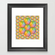 Rainbow Facets Framed Art Print