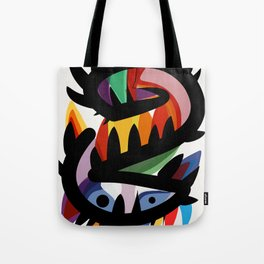 Depemiro Abstract Colorful Art Tote Bag