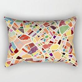 Birmingham England Map Art Rectangular Pillow