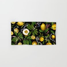 LEMON TREE Black Hand & Bath Towel
