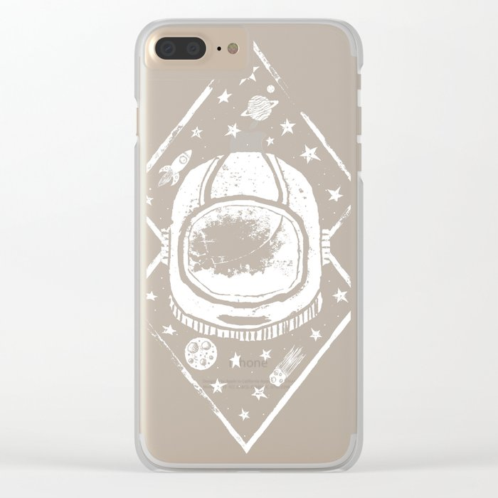 Space Traveller Clear iPhone Case