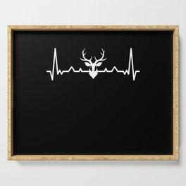 Deer Heartbeat Reindeer and elk Wildlife Gift Serving Tray
