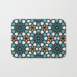 Persian Mosaic – Turquoise & Gold Palette Bath Mat