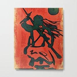 Onna Shinobi (Lady Ninja) Metal Print