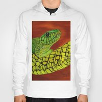 snake Hoodies featuring Snake by maggs326