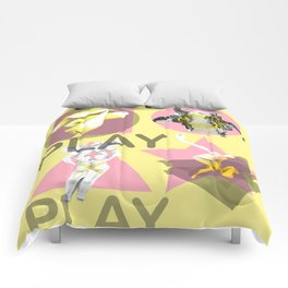 Play. (A) Comforters