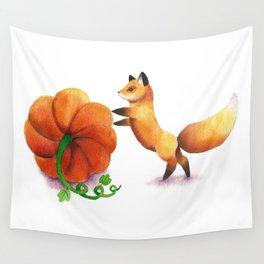 Pumpkin Thief Wall Tapestry