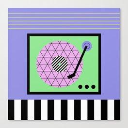 Play That Retro Geometric Vinyl Canvas Print