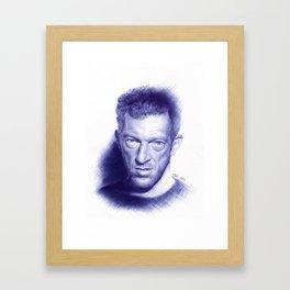 Vincent Cassel on ballpen Framed Art Print